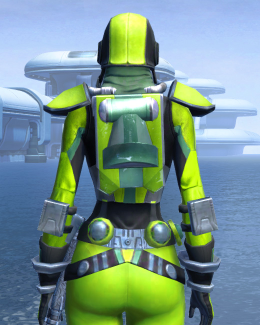 K-23 Hazmat Armor Set Back from Star Wars: The Old Republic.