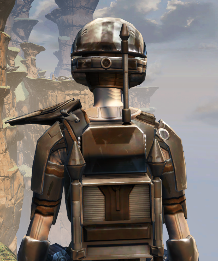 MA-44 Combat Armor Set detailed back view from Star Wars: The Old Republic.