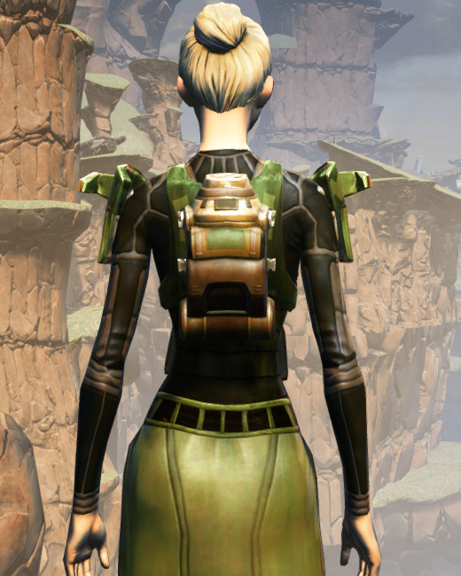 MA-53 Overwatch Chestplate Armor Set Back from Star Wars: The Old Republic.