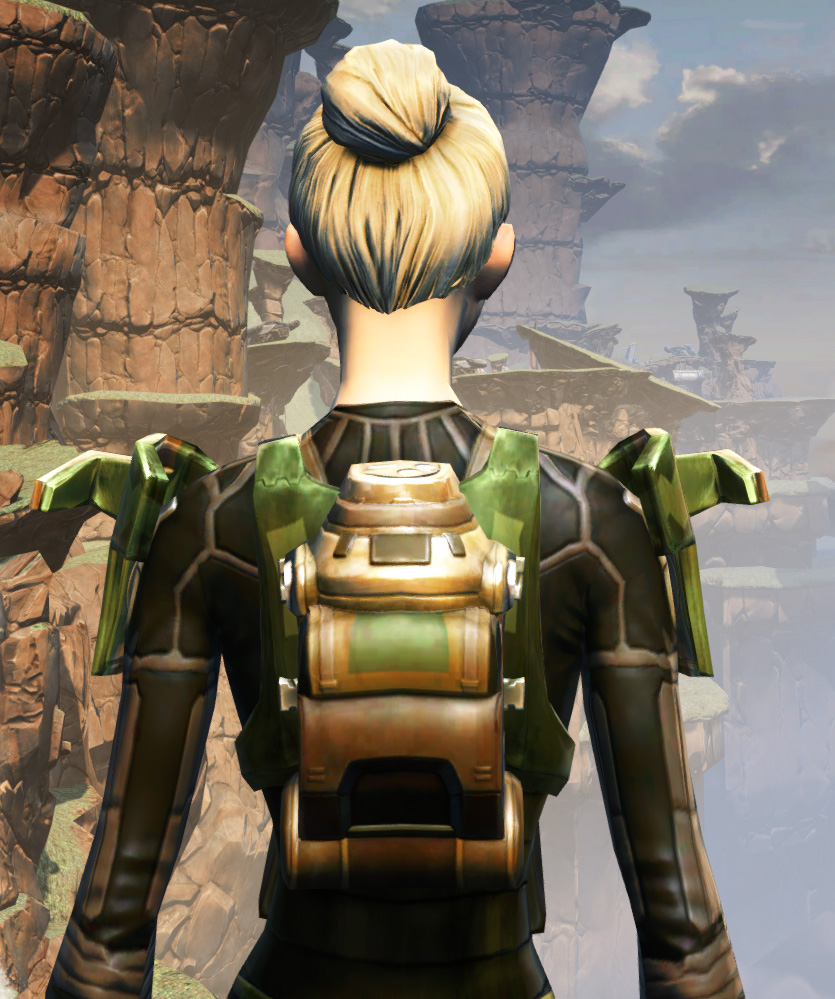 MA-53 Overwatch Chestplate Armor Set detailed back view from Star Wars: The Old Republic.