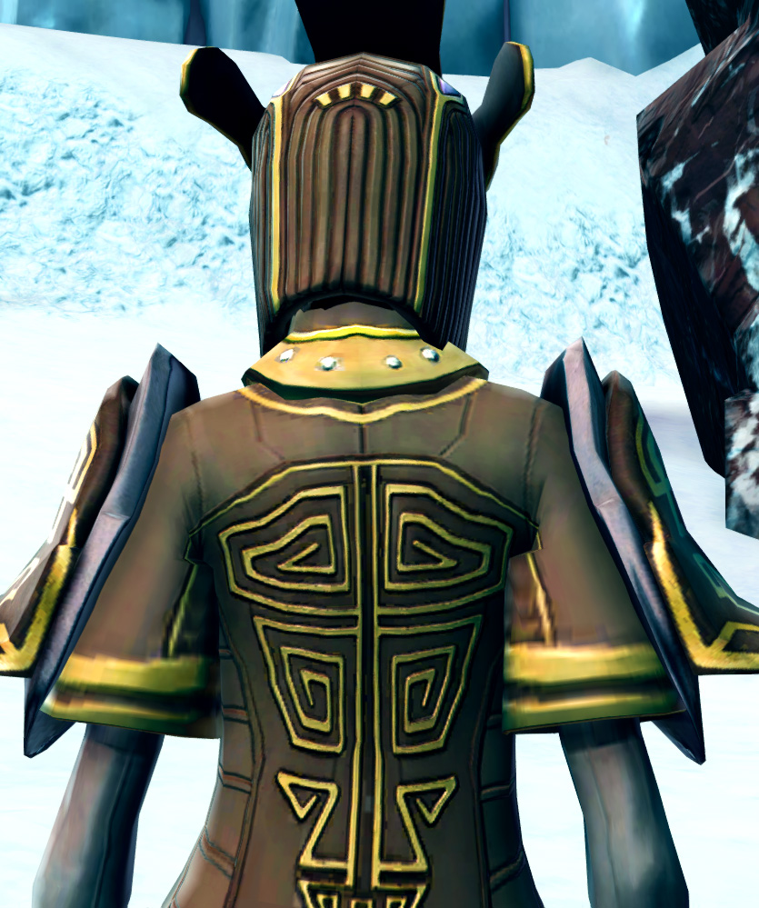 Majestic Augur Armor Set detailed back view from Star Wars: The Old Republic.