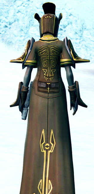 Majestic Augur Armor Set player-view from Star Wars: The Old Republic.