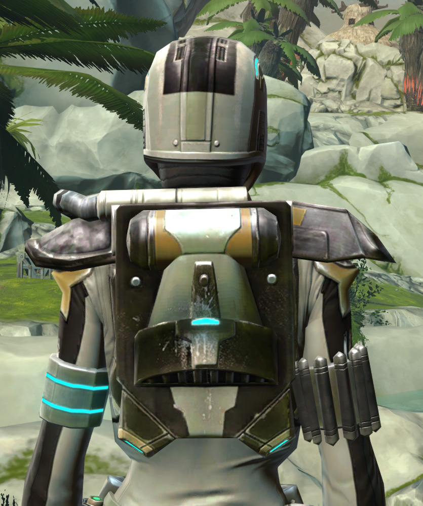 Mandalorian Seeker Armor Set detailed back view from Star Wars: The Old Republic.