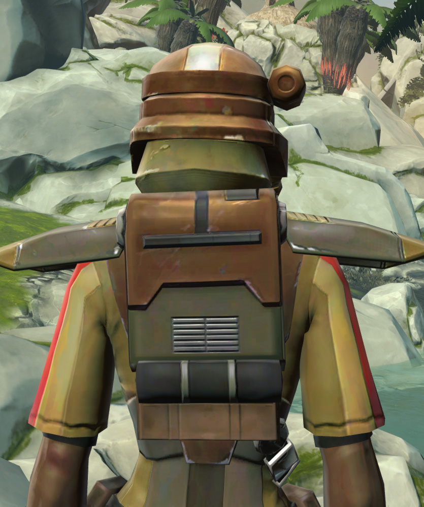 Mantellian Separatist Armor Set detailed back view from Star Wars: The Old Republic.