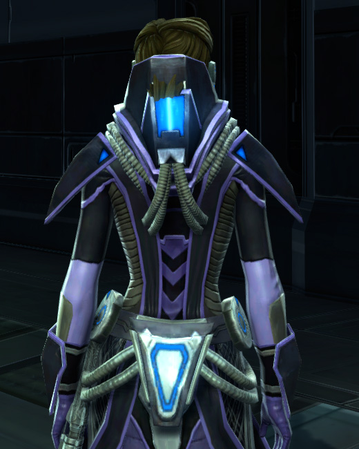 Overloaded Interrogator Armor Set Back from Star Wars: The Old Republic.