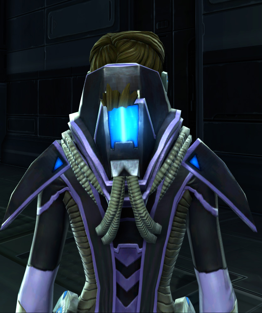 Overloaded Interrogator Armor Set detailed back view from Star Wars: The Old Republic.