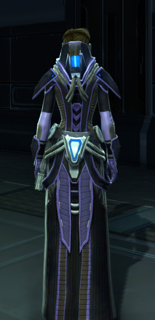 Overloaded Interrogator Armor Set player-view from Star Wars: The Old Republic.