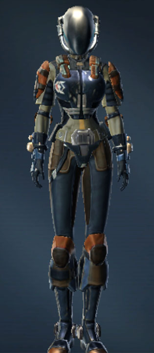 Deep Space Starfighter Helmet Armor Set Outfit from Star Wars: The Old Republic.