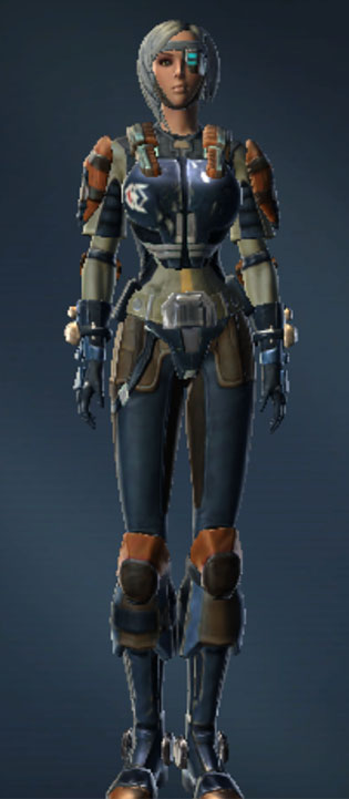 Hyperspace Hotshot Armor Set Outfit from Star Wars: The Old Republic.