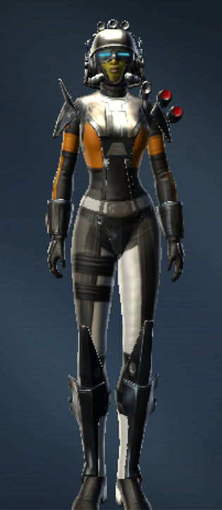 War Hero Enforcer (Rated) Armor Set Outfit from Star Wars: The Old Republic.