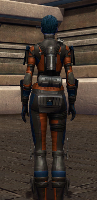 Probe Tech Armor Set player-view from Star Wars: The Old Republic.