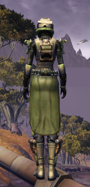 Electrum Onslaught Armor Set player-view from Star Wars: The Old Republic.