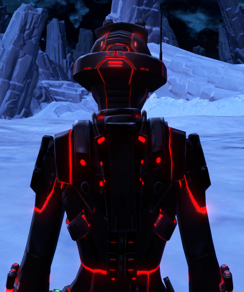 Red Scalene Armor Set detailed back view from Star Wars: The Old Republic.