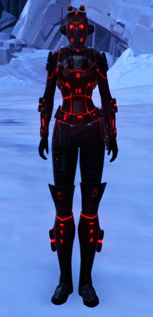 Red Scalene Armor Set Outfit from Star Wars: The Old Republic.
