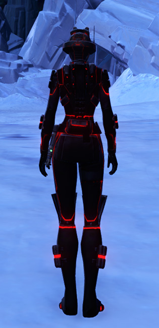 Red Scalene Armor Set player-view from Star Wars: The Old Republic.