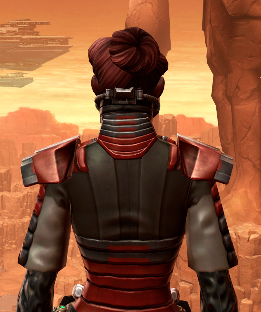 Reinforced Chanlon Armor Set detailed back view from Star Wars: The Old Republic.