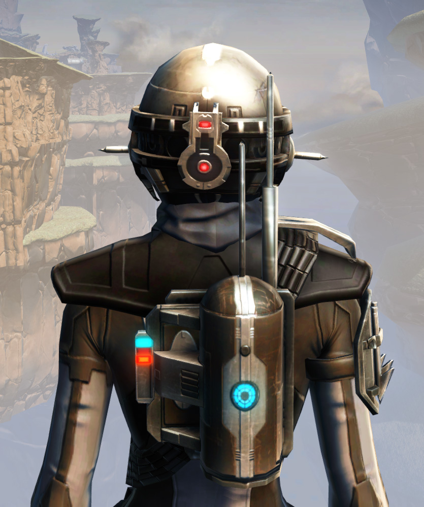 Remnant Arkanian Agent Armor Set detailed back view from Star Wars: The Old Republic.