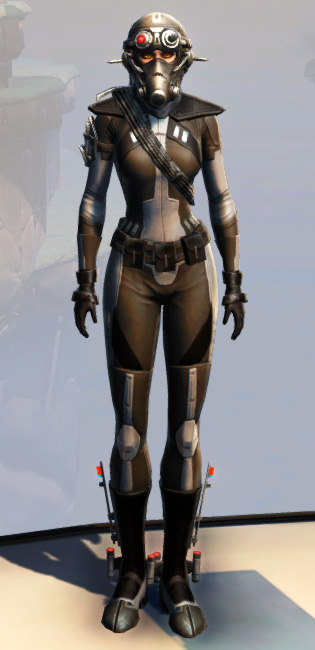 Remnant Arkanian Agent Armor Set Outfit from Star Wars: The Old Republic.