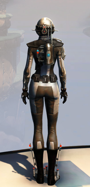 Remnant Arkanian Agent Armor Set player-view from Star Wars: The Old Republic.