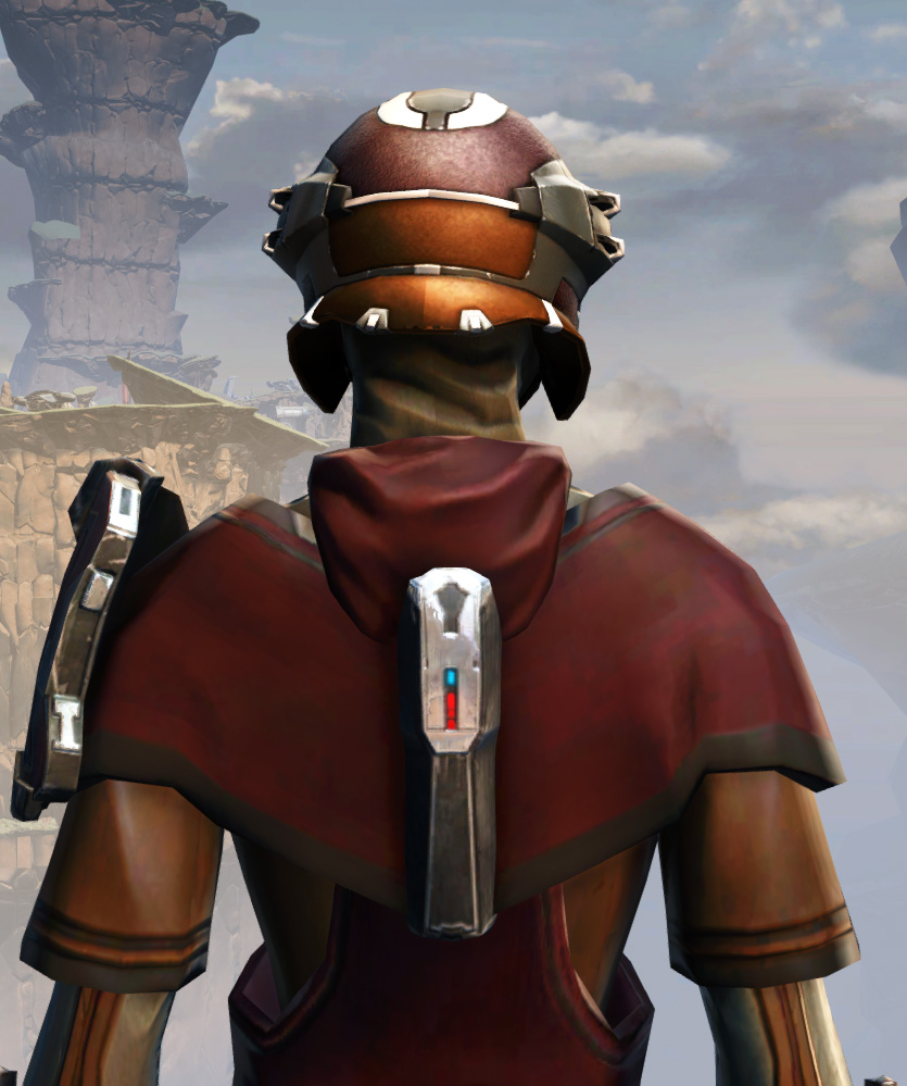 Remnant Arkanian Consular Armor Set detailed back view from Star Wars: The Old Republic.
