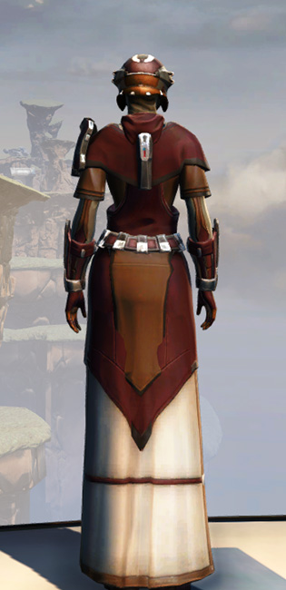 Remnant Arkanian Consular Armor Set player-view from Star Wars: The Old Republic.