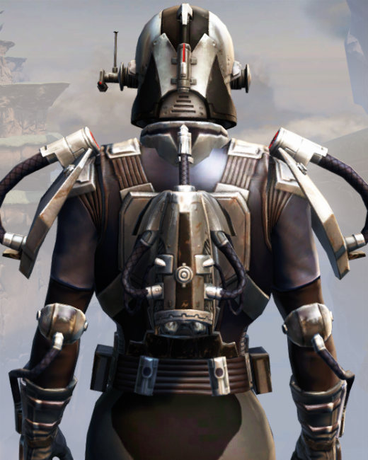 Remnant Dreadguard Bounty Hunter Armor Set Back from Star Wars: The Old Republic.