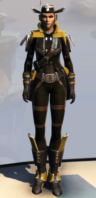 Remnant Dreadguard Smuggler Armor Set Outfit from Star Wars: The Old Republic.