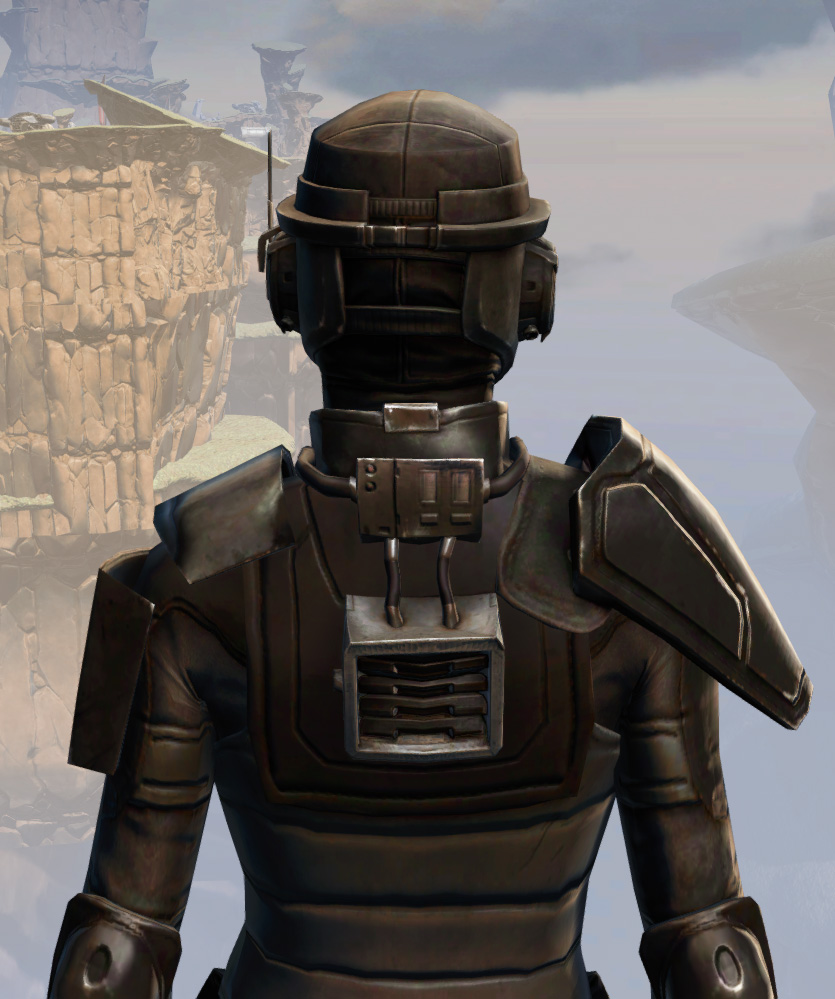 Remnant Resurrected Agent Armor Set detailed back view from Star Wars: The Old Republic.