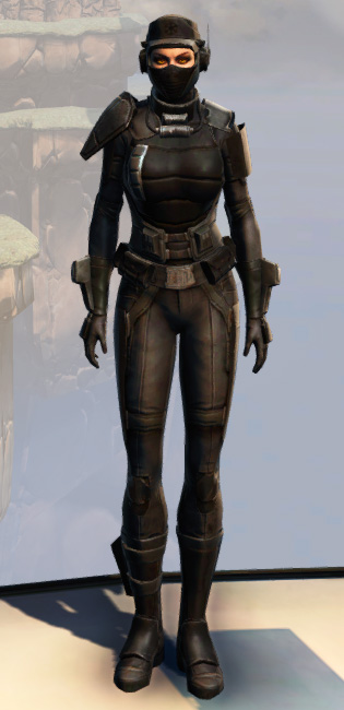 Remnant Resurrected Agent Armor Set Outfit from Star Wars: The Old Republic.