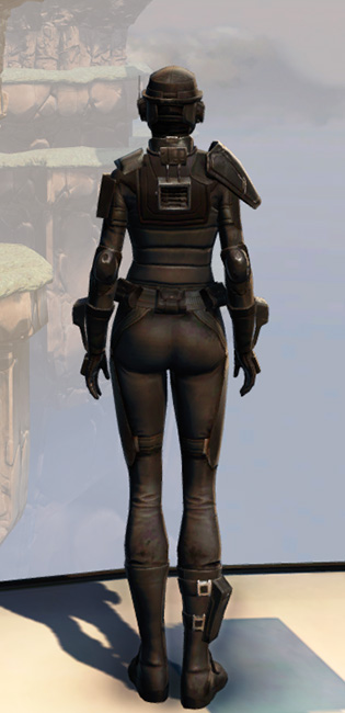 Remnant Resurrected Agent Armor Set player-view from Star Wars: The Old Republic.