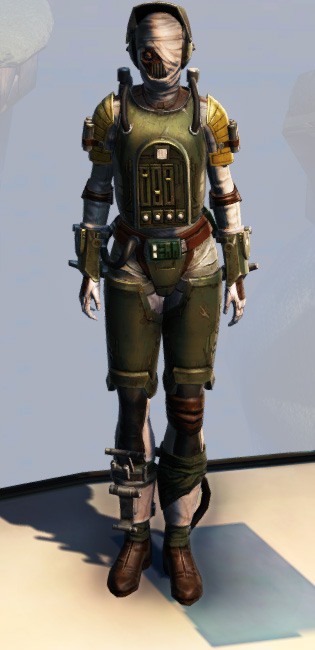 Remnant Underworld Bounty Hunter Armor Set Outfit from Star Wars: The Old Republic.