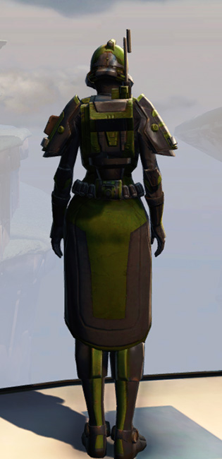 Remnant Yavin Trooper Armor Set player-view from Star Wars: The Old Republic.