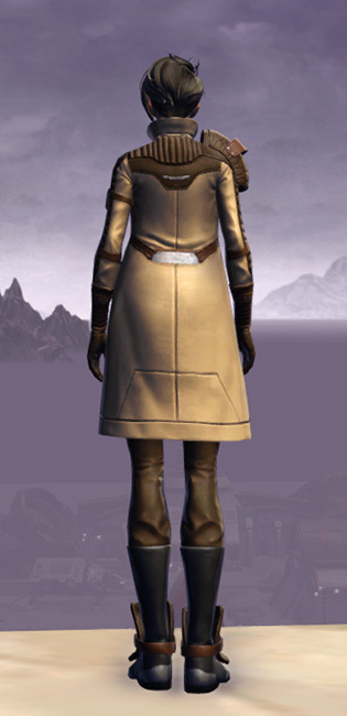 Renowned Duelist Armor Set player-view from Star Wars: The Old Republic.