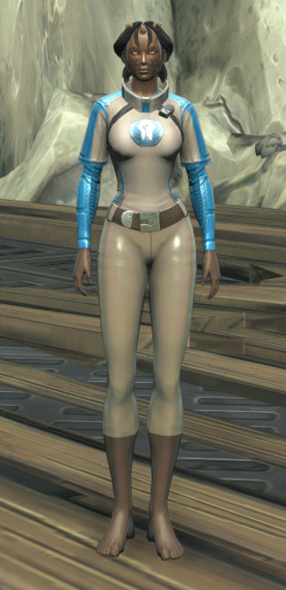 Republic Practice Jersey Armor Set Outfit from Star Wars: The Old Republic.