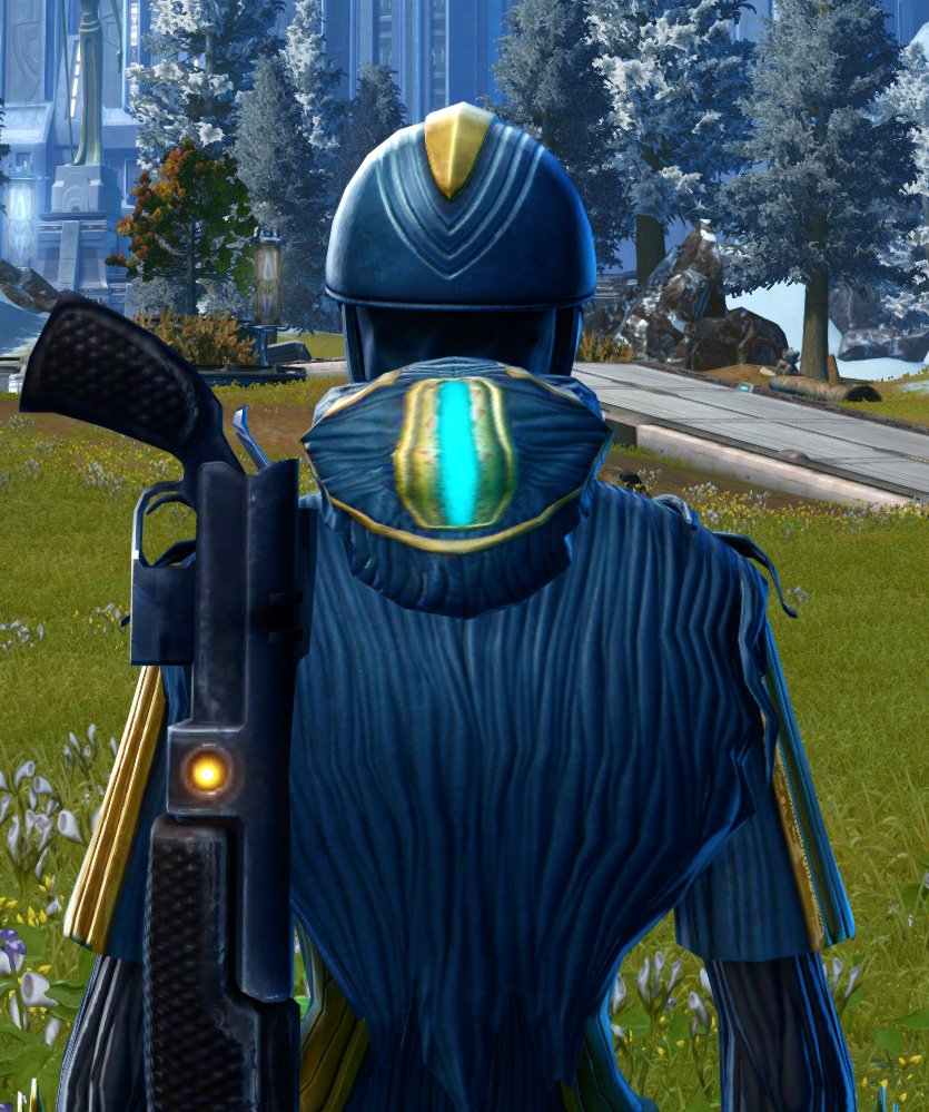 Righteous Harbinger Armor Set detailed back view from Star Wars: The Old Republic.