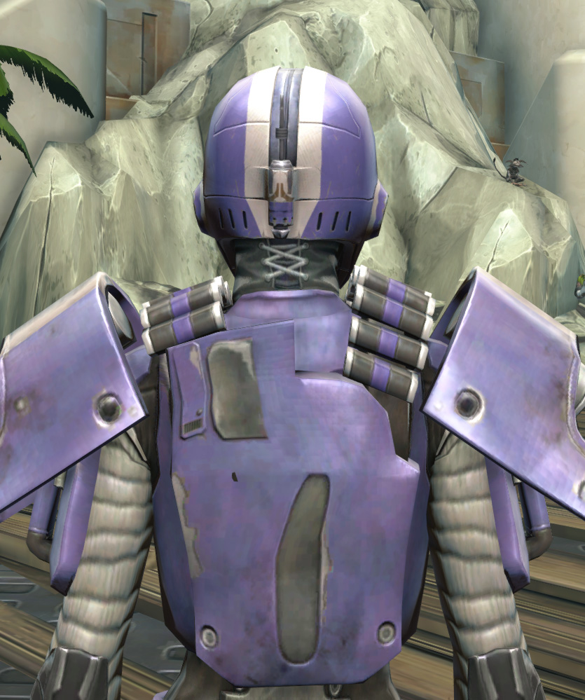 Rotworm Huttball Home Uniform Armor Set detailed back view from Star Wars: The Old Republic.
