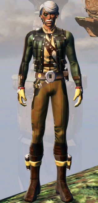 Rugged Smuggling Armor Set Outfit from Star Wars: The Old Republic.