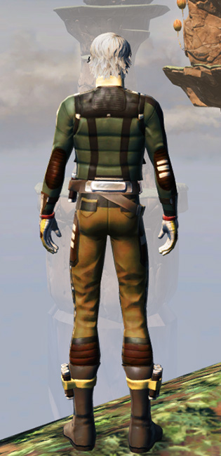 Rugged Smuggling Armor Set player-view from Star Wars: The Old Republic.