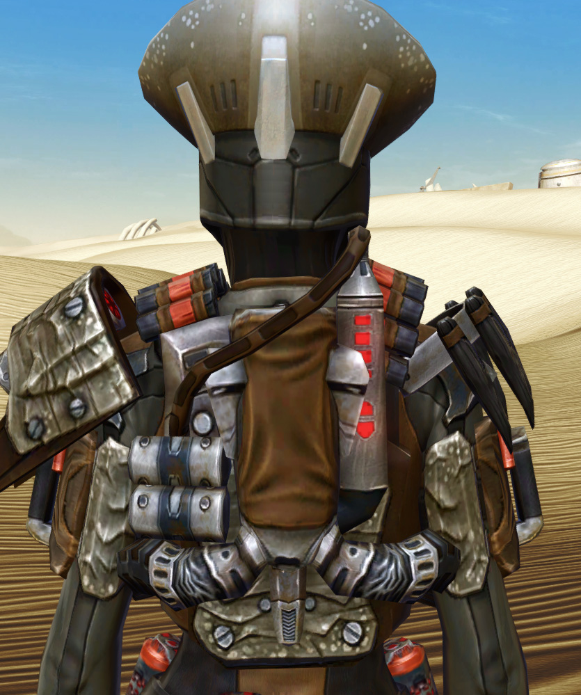 Savage Hunter Armor Set detailed back view from Star Wars: The Old Republic.