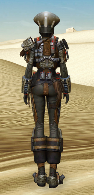 Savage Hunter Armor Set player-view from Star Wars: The Old Republic.