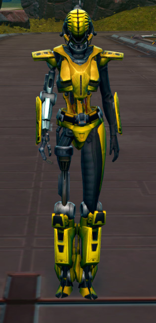 Series 808 Cybernetic Armor Armor Set Outfit from Star Wars: The Old Republic.