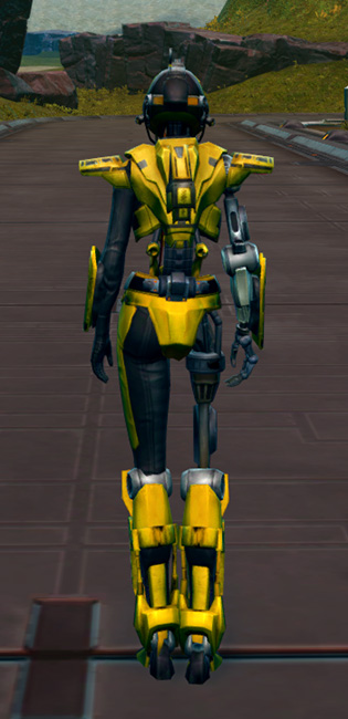 Series 808 Cybernetic Armor Armor Set player-view from Star Wars: The Old Republic.