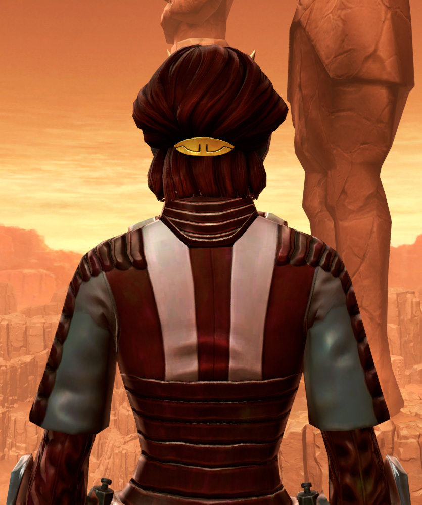 Shadowsilk Aegis Armor Set detailed back view from Star Wars: The Old Republic.
