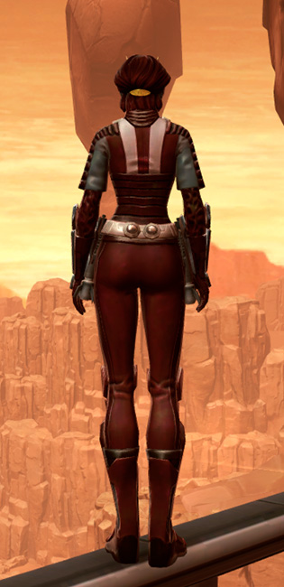 Shadowsilk Aegis Armor Set player-view from Star Wars: The Old Republic.