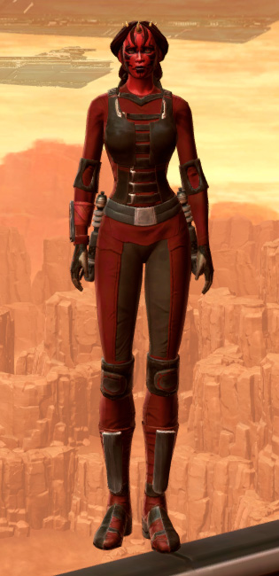 Sith Dueling Armor Set Outfit from Star Wars: The Old Republic.