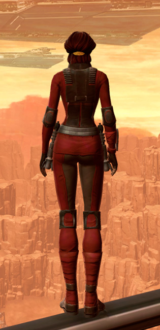 Sith Dueling Armor Set player-view from Star Wars: The Old Republic.