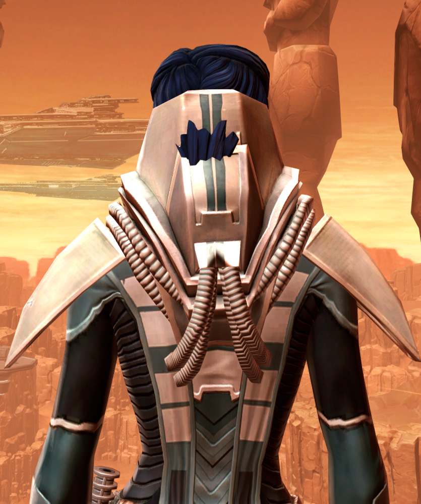 Sorcerer Adept Armor Set detailed back view from Star Wars: The Old Republic.