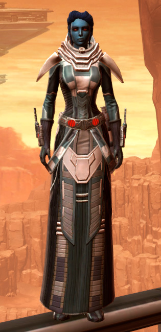 Sorcerer Adept Armor Set Outfit from Star Wars: The Old Republic.