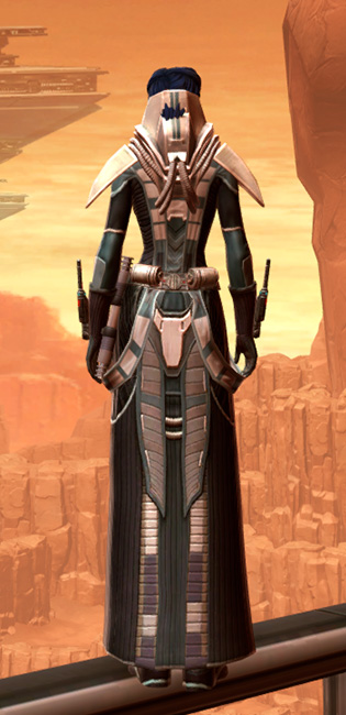 Sorcerer Adept Armor Set player-view from Star Wars: The Old Republic.