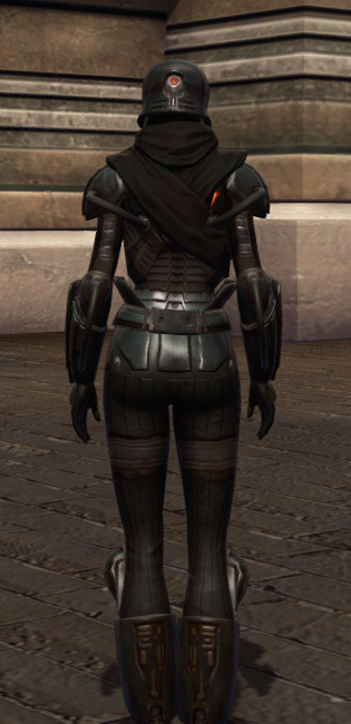 Tormented Armor Set player-view from Star Wars: The Old Republic.